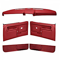 Coverlay 12-108CF-RD Interior Restoration Kit - Red, ABS Plastic, Dash Cap, Door Panel, Kick Panel, Direct Fit, Kit