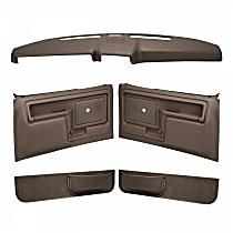 Coverlay 12-108CN-DBR Interior Restoration Kit - Brown, ABS Plastic, Dash Cap, Door Panel, Kick Panel, Direct Fit, Kit