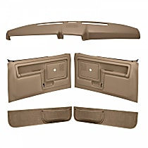 Coverlay 12-108CN-LBR Interior Restoration Kit - Brown, ABS Plastic, Dash Cap, Door Panel, Kick Panel, Direct Fit, Kit