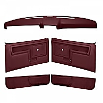 Coverlay 12-108CN-MR Interior Restoration Kit - Maroon, ABS Plastic, Dash Cap, Door Panel, Kick Panel, Direct Fit, Kit