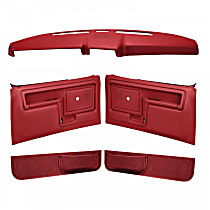 Coverlay 12-108CN-RD Interior Restoration Kit - Red, ABS Plastic, Dash Cap, Door Panel, Kick Panel, Direct Fit, Kit