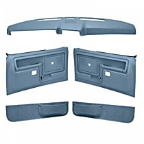 Coverlay 12-108CS-LBL Interior Restoration Kit - Blue, ABS Plastic, Dash Cap, Door Panel, Kick Panel, Direct Fit, Kit