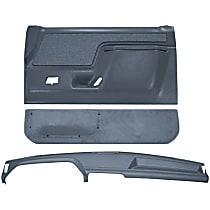 Coverlay 12-113CF-LBL Interior Restoration Kit - Blue, ABS Plastic, Dash Cap, Door Panel, Kick Panel, Direct Fit, Kit
