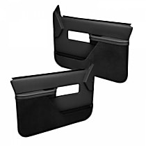 18-27F-BLK Door Trim Panel - Black, ABS Plastic, Direct Fit, Set of 2