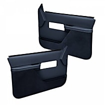 18-27F-DBL Door Trim Panel - Blue, ABS Plastic, Direct Fit, Set of 2