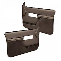 18-27F-DBR Door Trim Panel - Brown, ABS Plastic, Direct Fit, Set of 2