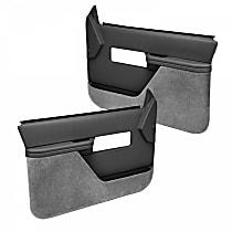 18-27F-DGR Door Trim Panel - Gray, ABS Plastic, Direct Fit, Set of 2