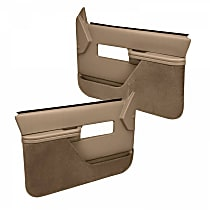 18-27F-LBR Door Trim Panel - Brown, ABS Plastic, Direct Fit, Set of 2