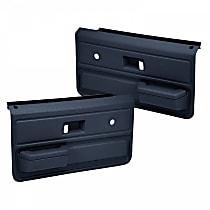 18-33-DBL Door Trim Panel - Blue, ABS Plastic, Direct Fit, Set of 2