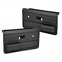 18-33-DGR Door Trim Panel - Gray, ABS Plastic, Direct Fit, Set of 2