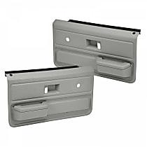 18-33-LGR Door Trim Panel - Gray, ABS Plastic, Direct Fit, Set of 2