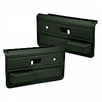 18-33-GRN Door Trim Panel - Green, ABS Plastic, Direct Fit, Set of 2