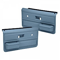 18-33-LBL Door Trim Panel - Blue, ABS Plastic, Direct Fit, Set of 2