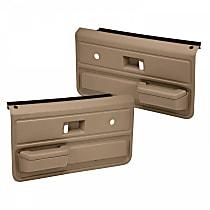 18-33-LBR Door Trim Panel - Brown, ABS Plastic, Direct Fit, Set of 2