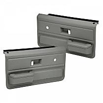 18-33-MGR Door Trim Panel - Gray, ABS Plastic, Direct Fit, Set of 2