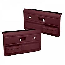 18-33-MR Door Trim Panel - Maroon, ABS Plastic, Direct Fit, Set of 2