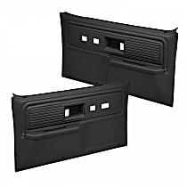 18-34F-BLK Door Trim Panel - Black, ABS Plastic, Direct Fit, Set of 2