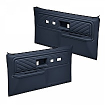 18-34F-DBL Door Trim Panel - Blue, ABS Plastic, Direct Fit, Set of 2