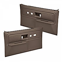 18-34F-DBR Door Trim Panel - Brown, ABS Plastic, Direct Fit, Set of 2