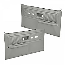 18-34F-LGR Door Trim Panel - Gray, ABS Plastic, Direct Fit, Set of 2