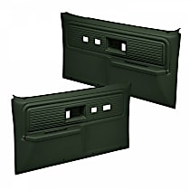 18-34F-GRN Door Trim Panel - Green, ABS Plastic, Direct Fit, Set of 2