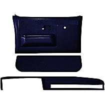 18-601CF-DBL Interior Restoration Kit - Blue, ABS Plastic, Dash Cap, Door Panel, Kick Panel, Direct Fit, Kit