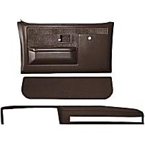 18-601CF-DBR Interior Restoration Kit - Brown, ABS Plastic, Dash Cap, Door Panel, Kick Panel, Direct Fit, Kit