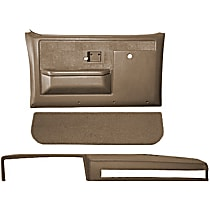 Coverlay 18-601CF-LBR Interior Restoration Kit - Brown, ABS Plastic, Dash Cap, Door Panel, Kick Panel, Direct Fit, Kit