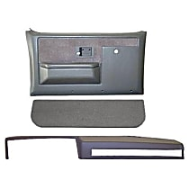 18-601CF-NTL Interior Restoration Kit - Neutral, ABS Plastic, Dash Cap, Door Panel, Kick Panel, Direct Fit, Kit