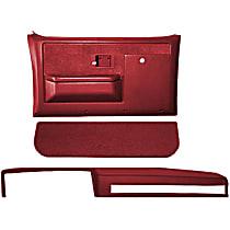 18-601CF-RD Interior Restoration Kit - Red, ABS Plastic, Dash Cap, Door Panel, Kick Panel, Direct Fit, Kit