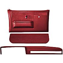Interior Restoration Kit - Red, ABS Plastic, Dash Cap, Door Panel, Kick Panel, Direct Fit, Kit