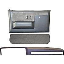 18-601CF-SGR Interior Restoration Kit - Gray, ABS Plastic, Dash Cap, Door Panel, Kick Panel, Direct Fit, Kit