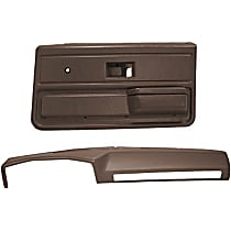 18-602C33-MBR Interior Restoration Kit - Brown, ABS Plastic, Dash Cap, Door Panel, Direct Fit, Kit
