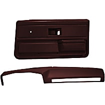 18-602C33-MR Interior Restoration Kit - Maroon, ABS Plastic, Dash Cap, Door Panel, Direct Fit, Kit