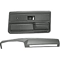 18-602C33-SGR Interior Restoration Kit - Gray, ABS Plastic, Dash Cap, Door Panel, Direct Fit, Kit