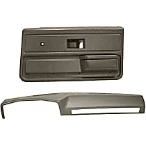 18-602C33-TGR Interior Restoration Kit - Gray, ABS Plastic, Dash Cap, Door Panel, Direct Fit, Kit