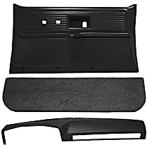 Interior Restoration Kit - Black, ABS Plastic, Dash Cap, Door Panel, Kick Panel, Direct Fit, Kit