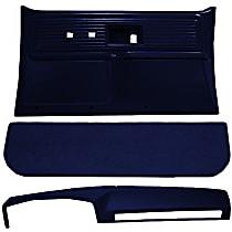 Interior Restoration Kit - Blue, ABS Plastic, Dash Cap, Door Panel, Kick Panel, Direct Fit, Kit