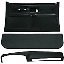 Interior Restoration Kit - Green, ABS Plastic, Dash Cap, Door Panel, Kick Panel, Direct Fit, Kit