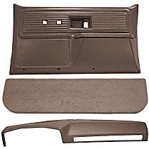 Interior Restoration Kit - Brown, ABS Plastic, Dash Cap, Door Panel, Kick Panel, Direct Fit, Kit