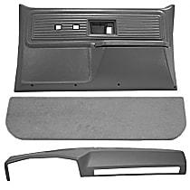 Interior Restoration Kit - Neutral, ABS Plastic, Dash Cap, Door Panel, Kick Panel, Direct Fit, Kit