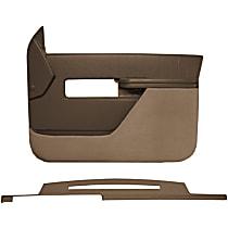 Interior Restoration Kit - Brown, ABS Plastic, Dash Cap, Door Panel, Direct Fit, Kit