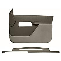 Interior Restoration Kit - Gray, ABS Plastic, Dash Cap, Door Panel, Direct Fit, Kit