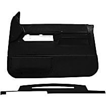 Interior Restoration Kit - Black, ABS Plastic, Dash Cap, Door Panel, Direct Fit, Kit