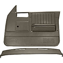 Coverlay 18-637CW-TGR Interior Restoration Kit - Gray, ABS Plastic, Dash Cap, Door Panel, Direct Fit, Kit