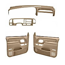 Coverlay 18-695C59F-NTL Interior Restoration Kit - Neutral, ABS Plastic, Dash Cap, Door Panel, Direct Fit, Kit