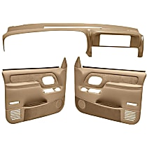 Coverlay 18-798C59F-NTL Interior Restoration Kit - Neutral, ABS Plastic, Dash Cap, Door Panel, Direct Fit, Kit
