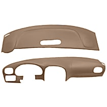 ABS Plastic Dash Cover - Brown