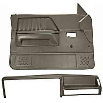 Coverlay 22-155CF-TGR Interior Restoration Kit - Gray, ABS Plastic, Dash Cap, Door Panel, Direct Fit, Kit