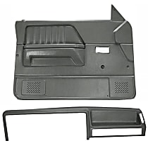 Coverlay 22-155CN-SGR Interior Restoration Kit - Gray, ABS Plastic, Dash Cap, Door Panel, Direct Fit, Kit